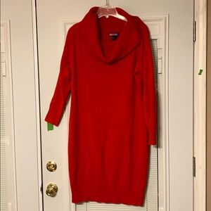 Sweater dress elegant in red